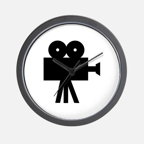 hollywood movie camera Wall Clock