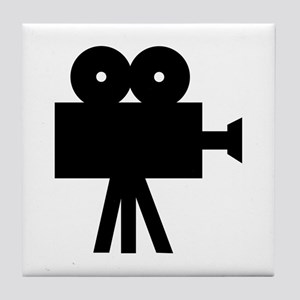 hollywood movie camera Tile Coaster