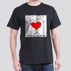 One Heart Black T-Shirt