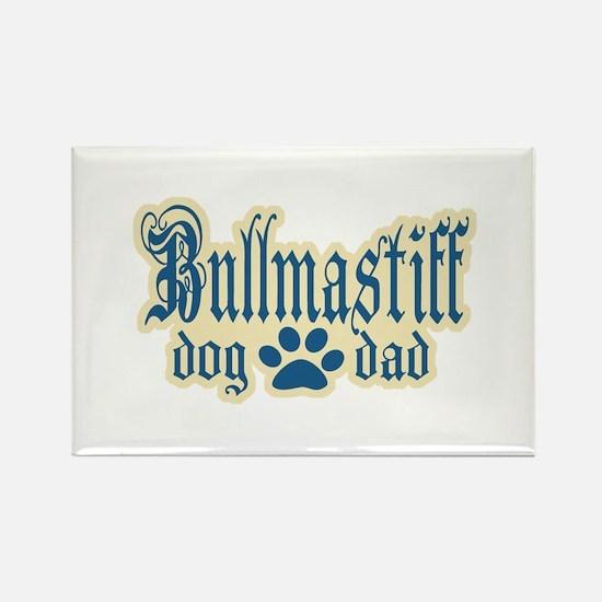 Bullmastiff Dad Rectangle Magnet (100 pack)