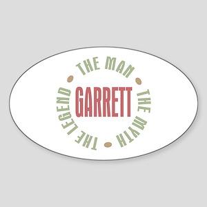 Garrett the Man Myth Legend Oval Sticker