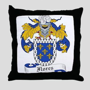 Flores Coat of Arms Throw Pillow