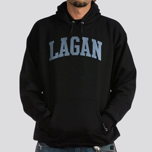 Lagan Last Name Collegiate Hoodie (dark)