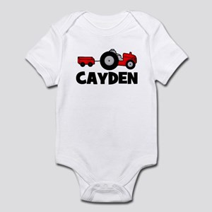 Cayden - Tractor Infant Creeper
