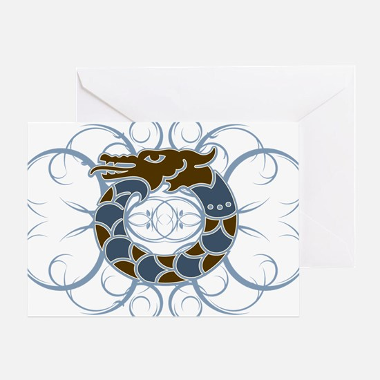 Tribal Dragon Design Greeting Card