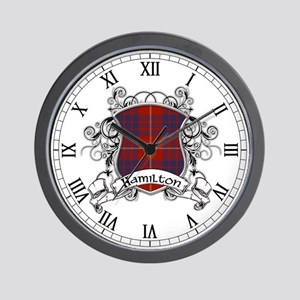 Hamilton Tartan Shield Wall Clock