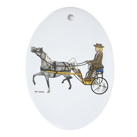 Mini with cart Oval Ornament