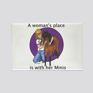 B Woman's Place Rectangle Magnet