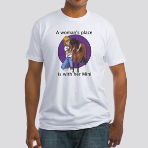 B Woman's Place2 Fitted T-Shirt