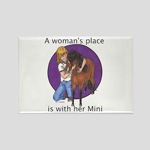 B Woman's Place2 Rectangle Magnet