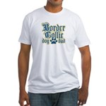 Border Collie Dad Fitted T-Shirt