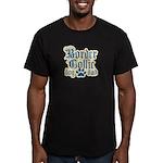 Border Collie Dad Men's Fitted T-Shirt (dark)