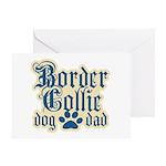 Border Collie Dad Greeting Card