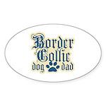 Border Collie Dad Sticker (Oval 10 pk)