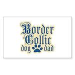 Border Collie Dad Sticker (Rectangle)