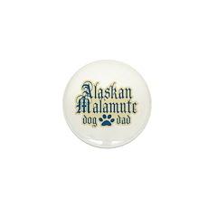Alaskan Malamute Dad Mini Button (10 pack)