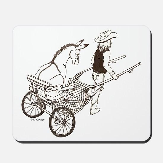 Donkey Cart Mousepad