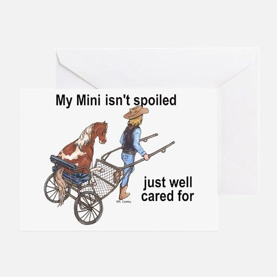 Mini Isn't Spoiled Greeting Card