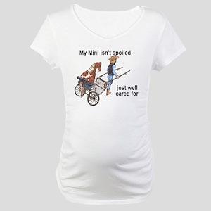 Mini Isn't Spoiled Maternity T-Shirt