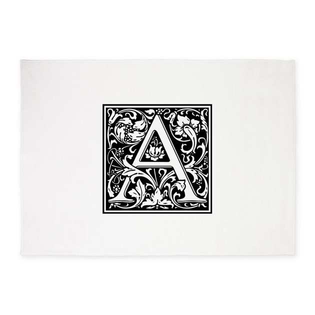 Letter A PreRaphaelite William Morris 5'x7'Area Ru by