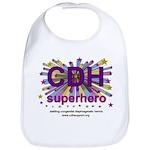 CDH Superhero Stars Logo for Girls Bib