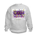 CDH Superhero Stars Logo for Girls Kids Sweatshirt