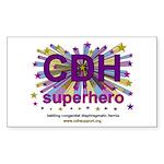 CDH Superhero Stars Logo for Girls Sticker (Rectan