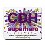 CDH Superhero Stars Logo for Girls Mousepad