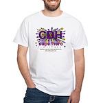 CDH Superhero Stars Logo for Girls White T-Shirt