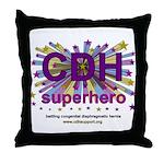 CDH Superhero Stars Logo for Girls Throw Pillow