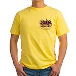 CDH Superhero Stars Logo for Girls Yellow T-Shirt