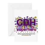 CDH Superhero Stars Logo for Girls Greeting Cards