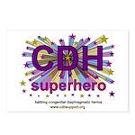 CDH Superhero Stars Logo for Girls Postcards (Pack