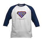 CDH Superhero Logo for Boys Kids Baseball Jersey