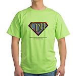 CDH Superhero Logo for Boys Green T-Shirt