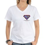 CDH Superhero Logo for Boys Women's V-Neck T-Shirt