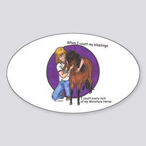 Bay blessings Oval Sticker