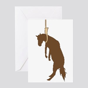 Hung like a horse Greeting Card