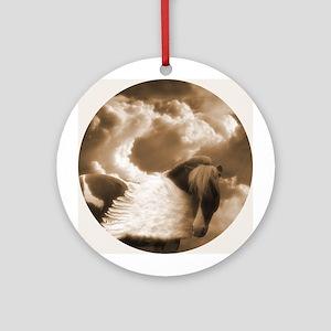 Sepia Pinto Pegasus Ornament (Round)