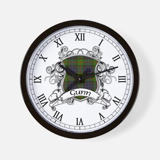 Gunn Tartan Shield Wall Clock