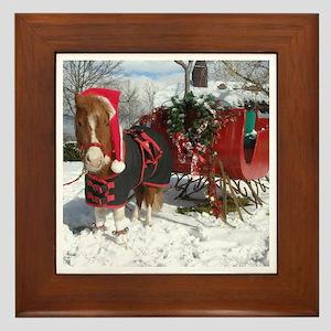 Santa Mini Sleigh Framed Tile