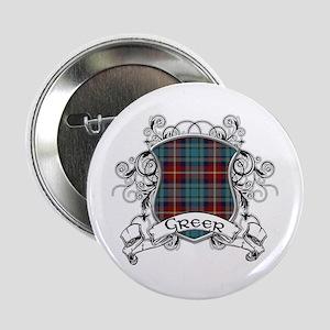 """Greer Tartan Shield 2.25"""" Button"""