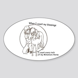 Mini Blessings Oval Sticker
