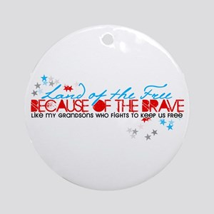 Land of the Free: Grandsons Ornament (Round)