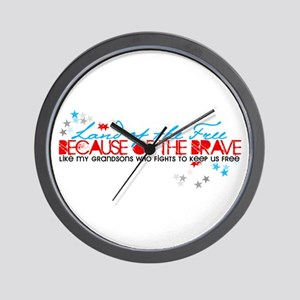 Land of the Free: Grandsons Wall Clock