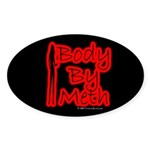Body By Meth Oval Sticker