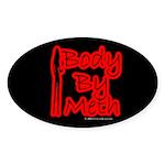 Body By Meth Oval Sticker