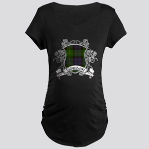 Gordon Tartan Shield Maternity Dark T-Shirt