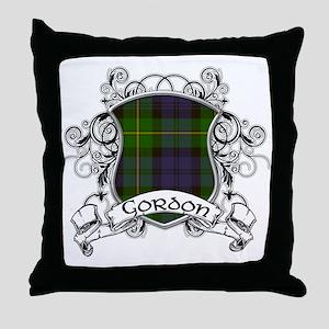 Gordon Tartan Shield Throw Pillow