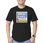 Bio Fuel Clean Men's Fitted T-Shirt (dark)